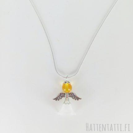 www.hattentatti.fi kaulakoru enkeli keltainen