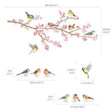 www.hattentatti.fi sisustustarra-setti kirsikka pihan linnut